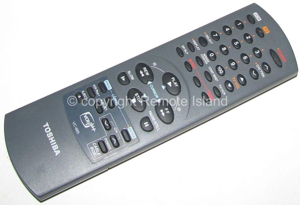 Amazon com: TopOne Toshiba VC 685 New VCR TV Remote Control