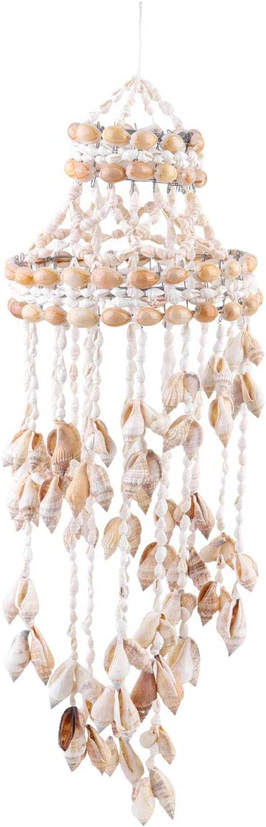 Conch Sea Shell Wind Chime Hanging Ornament Wall Decoration Creative Hanging Pendant Stylish Hanging Ornament Hanging Decor for Home Living Room (Random Style)