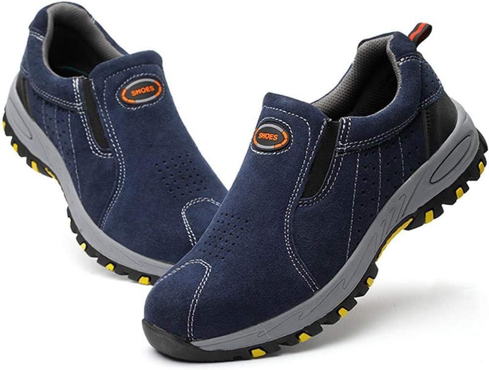 Zapatos de Trabajo de Seguridad Dcola Zapatos con Punta de Acero para Hombres 40 Elegantes Botas Casuales Antideslizantes Transpirables para el Verano Zapatos de Seguridad para el Trabajo,