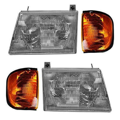 - Headlight Headlamp Corner Light Lamp Kit Set of 4 for 01-03 Ford Econoline Van
