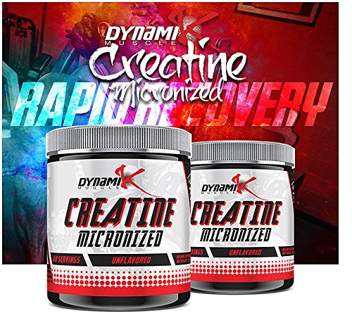 Micronized Creatine | Dynamik Muscle | Creatine | Formulated By Kai Green (Unflavored, 60 Servings)