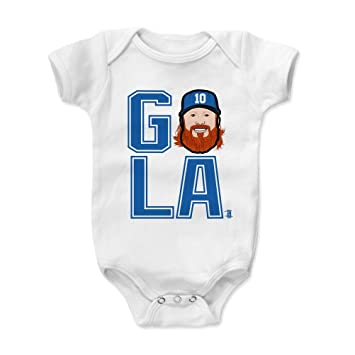 500 Level Justin Turner Los Angeles Dodgers Baby Clothes Onesie
