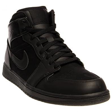 Jordan Nike Air 1 Phat Mid Mens Basketball Shoes 364770-020 Black Black 9 M 350b82652
