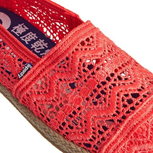 Superdry Espadrilles Jetstream Lace Fluro Coral Rose Corail lJhkN