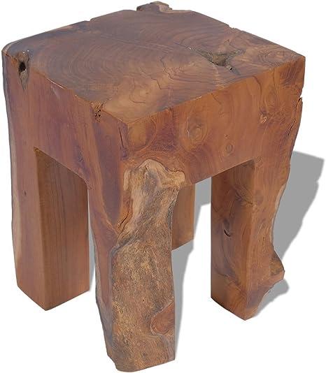 Festnight Hocker Sitzhocker Recyceltes Massivholz 20 x 20 x 23 cm