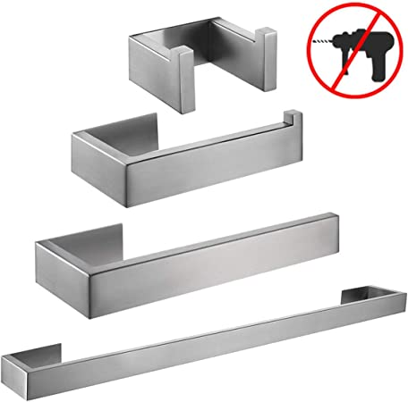 simpletome Toilet Paper Holder 3M Self Adhesive Bathroom Paper Towel Roll Holder Wall Mount SUS 304 Stainless Steel