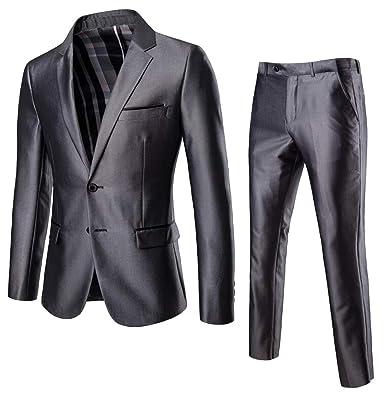 Amazon.com: YYG - Conjunto de 2 trajes de boda para hombre ...