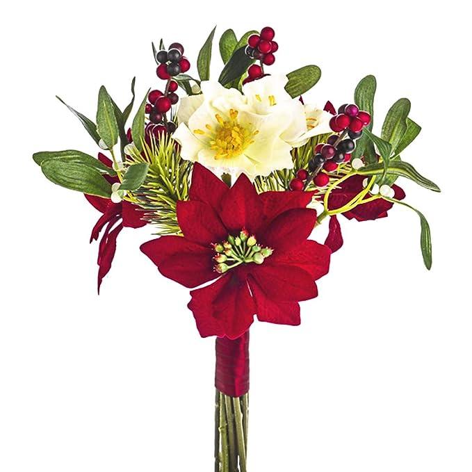 36cm Artificial Mistletoe Picks for Christmas Floristry 3 Pack