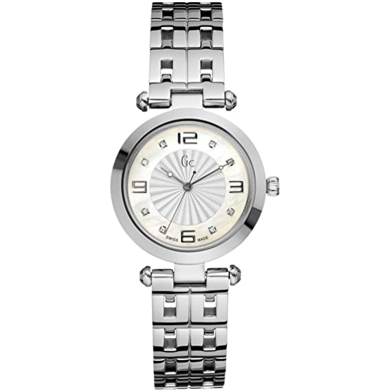 Reloj Guess Collection Gc Class Lady 8 Diamond X17106l1s Mujer Nácar: Amazon.es: Relojes