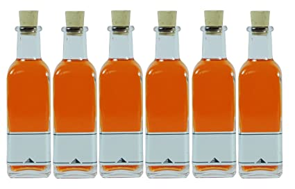 Viva-Haushaltswaren - 6 Botellas pequeñas de farmacia Cristal / 6 Botellas de cristal (