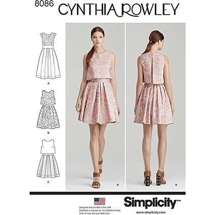 Simplicidad de Costura para Vestidos por Cynthia Rowley – Patrones de Costura para, Papel