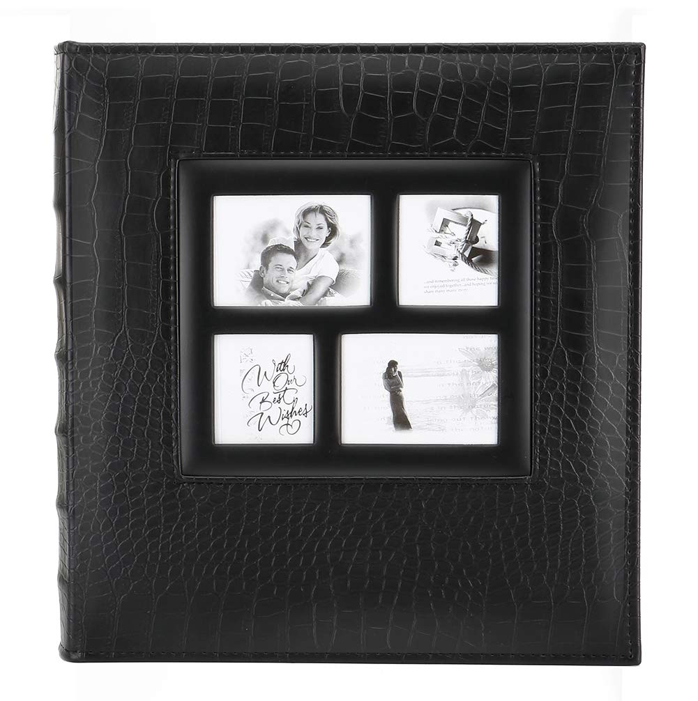 Artmag Photo Picutre Album 4x6 600 Photos, Extra Large Capacity Leather Cover Wedding Family Photo Albums Holds 600 Horizontal and Vertical 4x6 Photos with Black Pages (Black) by Artmag