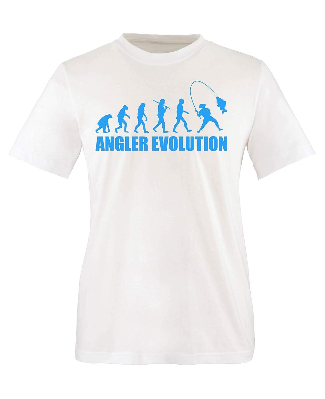 Angler Evolution Top Basic Print-Shirt 100/% Baumwolle Comedy Shirts Rundhals Jungen T-Shirt