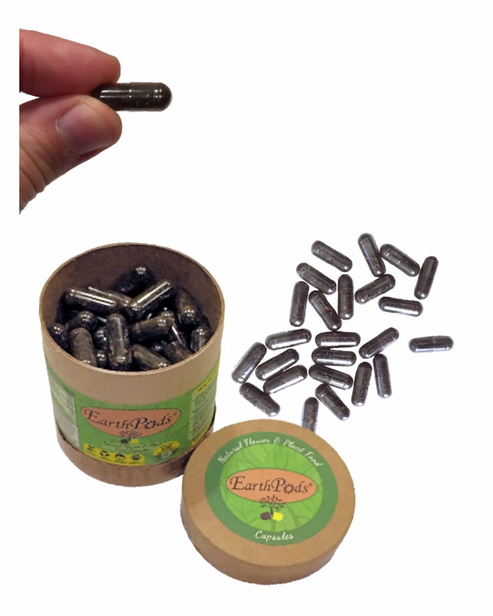 EarthPods HERB + VEGETABLE Bio Organic Fertilizer Capsules (100 Spikes, NO UREA, Feeds 10 Plants for 1 Year, Ecofriendly Plant Food for Culinary Kitchen Herbs, Vegetables & Medical Houseplants) by Earthworm Technologies (Image #3)