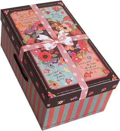 Rectángulo de la Caja de Regalo del día de Tarjeta del día de San Valentín de la Navidad Conveniente para almacenar la Ropa Ilustraciones del Vino Rojo: Amazon.es: Hogar