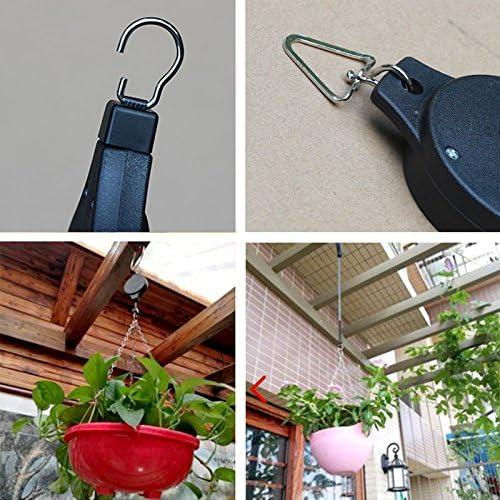Hängende Korb Einziehbare Riemenscheibe Garten Töpfe Pull Down Hanger Unter 15kg