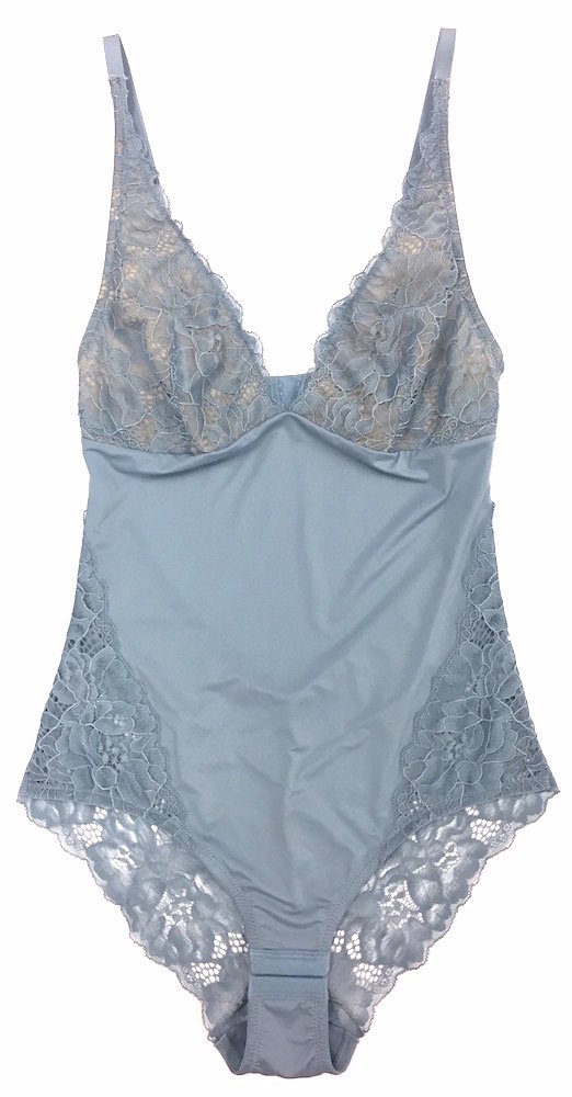 Samantha Chang Women's My Daily Bodysuit - New Lace & New Style (Iceberg, Large)