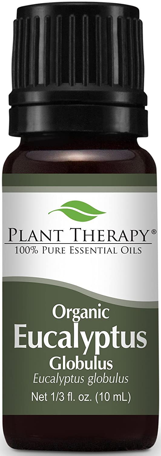 Plant Therapy Organic Eucalyptus Essential Oil. Therapeutic Grade. 10 mL (1/3 Ounce).