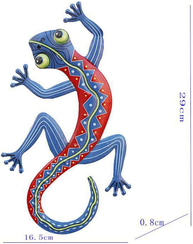 ningdeck 2 St/ück Metall Gecko Outdoor Wand Dekor Metall Kunst Skulptur Gecko Garten Wand Dekor f/ür Outdoor Hinterhof Terrasse Rasen Zaun Dekorationen nicht null 2 Farben Free Size
