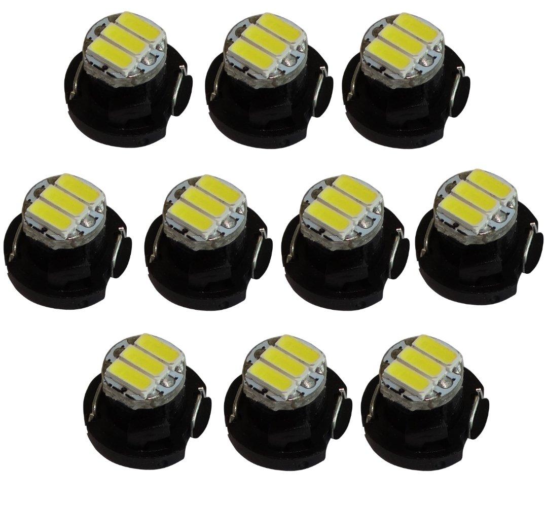 Aerzetix: 10 x Lampadine T4.2 3LED SMD 12 V 1 W luce bianca per cruscotto di c19693 C19693 : HE36 x10