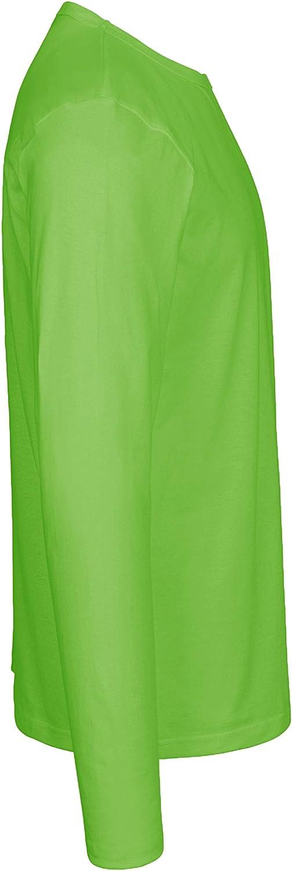 certificata Fairtrade Oeko-Tex e Ecolabel in 100/% cotone biologico Green Cat Maglia a maniche lunghe da uomo