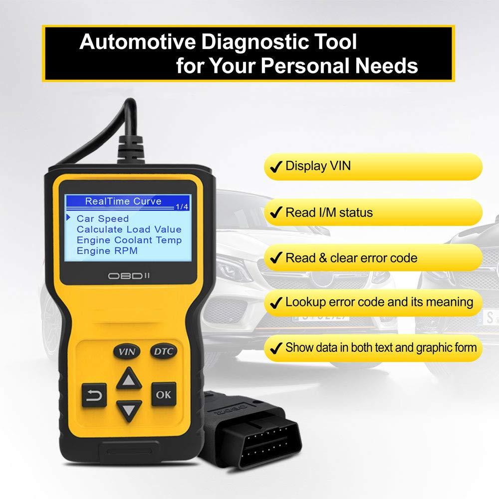 Panlong OBDII OBD2 Scanner Check Engine Light (MIL) Car Diagnostic Code Reader Scan Tool by Panlong (Image #3)