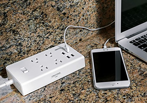 Greatness Line GR-8 Power Compact & Slim Travel Charging Station - International Power Adapter - Surge Protector - Power Strip with 4 Intelligent USB - Free Bonus Included by Greatness Line (Image #5)