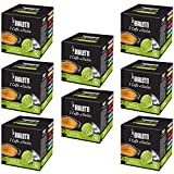 Bialetti Coffee Capsules Decaffeinated - Set 8 packages of 16 capsules - Light Green