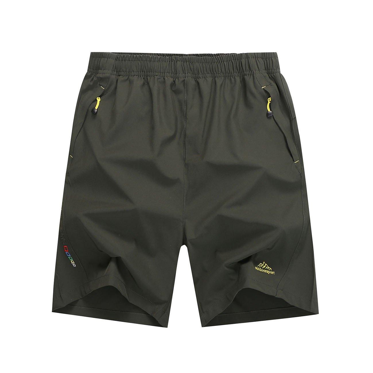 Mesitelin Men Outdoor Sport Zipper Pocket Short Casual Running Short