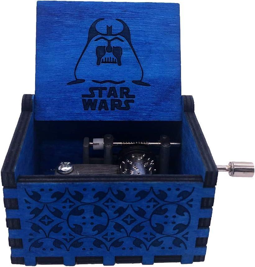 Star Wars Holz Spieluhr 18 Noten Handkurbel Musikboxen Vintage Geschnitzt Amazon De
