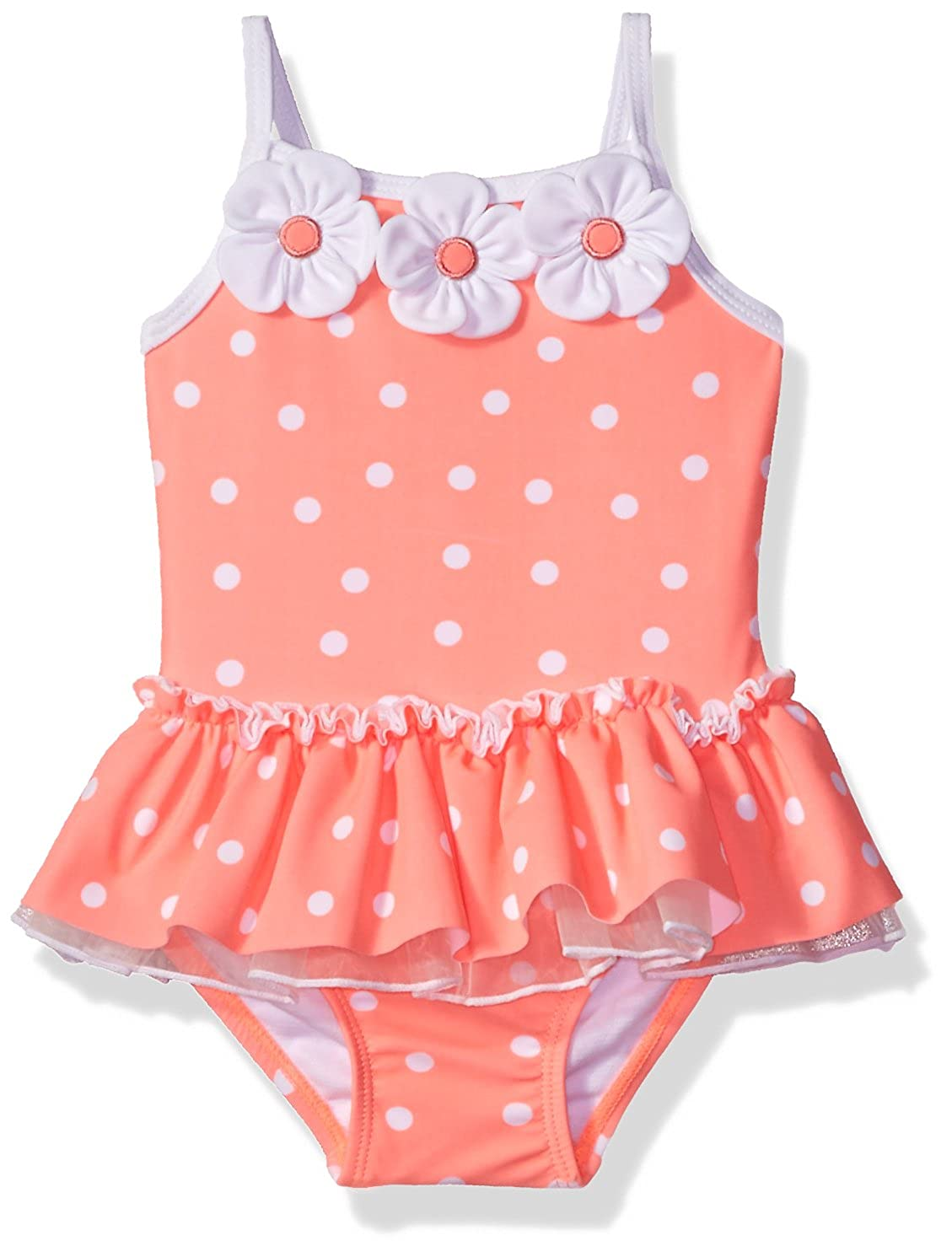 Little Me Baby Girls' UPF 50+ One Piece Swimsuit