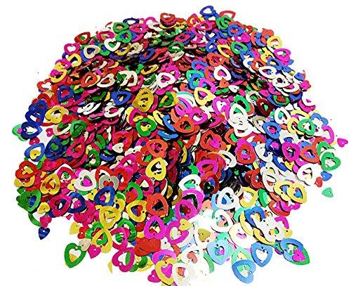 Mistari 5000 Pcs Paper Confetti Paper Heart Confetti Plastic Sequin Birthday Party Wedding Decorations Multi Colored by Mistari