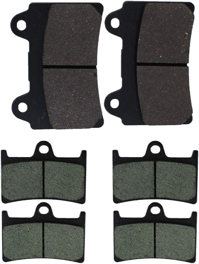OCEAIR Front and Rear Brake Pads for YAMAHA XV1700 Roadstar 1700 2004-2009 XV 1700 Road Star Midnight Silverado 2004-2007