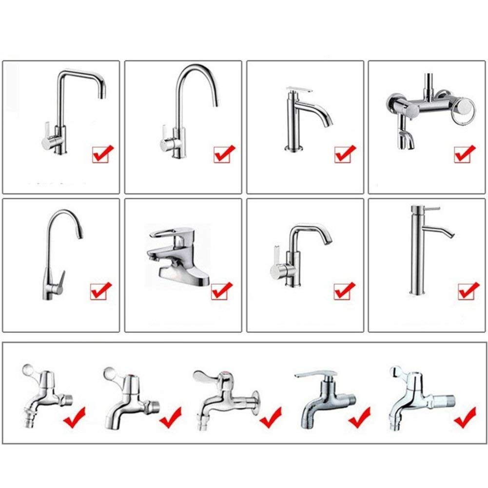 argent ZXCKJ Filtre de robinet dextension prolong/ée rotatif /à 360/° pour /économie deau A/érateur de robinet Diffuseur dembout Filtre Adaptateur Filtre anti-/éclaboussures