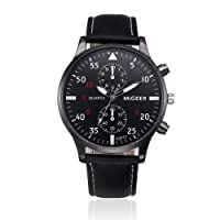 Mens Quartz Watch,Ulanda-EU Unique Retro Analog Business Casual Fashion Wristwatch,Clearance Cheap Watches with Round Dial Case,Comfortable PU Leather Band zm2