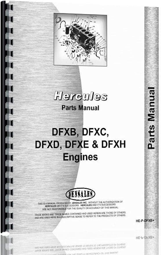 Hercules Engines DFXE Engine Parts Manual Farm & Ranch Patio, Lawn ...