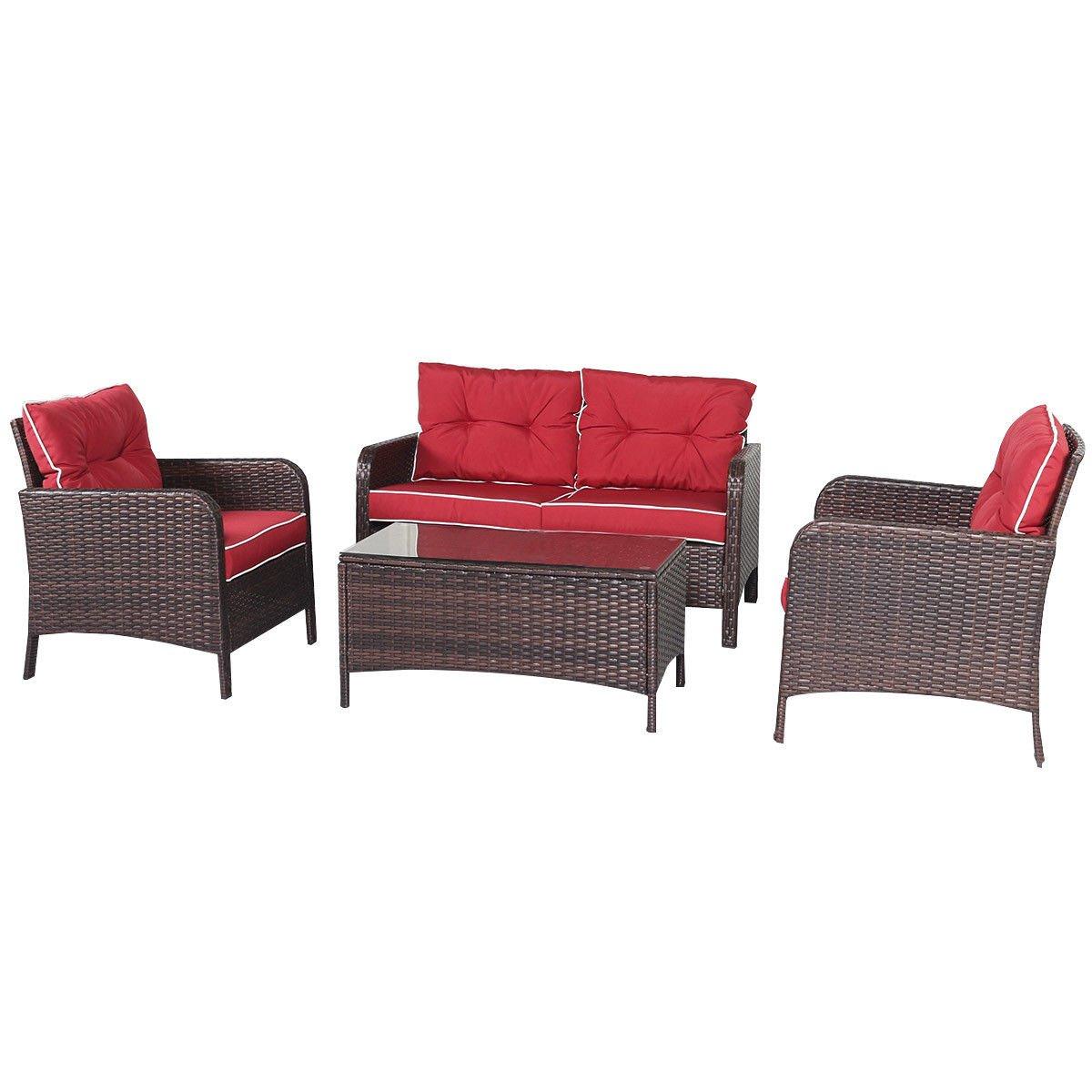 Cool Amazon Com Outdoor Rattan Furniture 2 Chairs Sofa Coffee Spiritservingveterans Wood Chair Design Ideas Spiritservingveteransorg