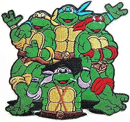 Teenage Mutant Ninja Turtles Movie Cartoon Superhero band logo patch Jacket T-shirt Sew Iron on Patch Badge Embroidery
