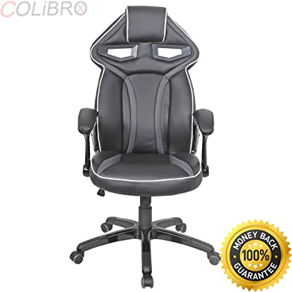 COLIBROX  Racing Bucket Seat Office Chair High Back Gaming Chair Desk Task  Ergonomic New