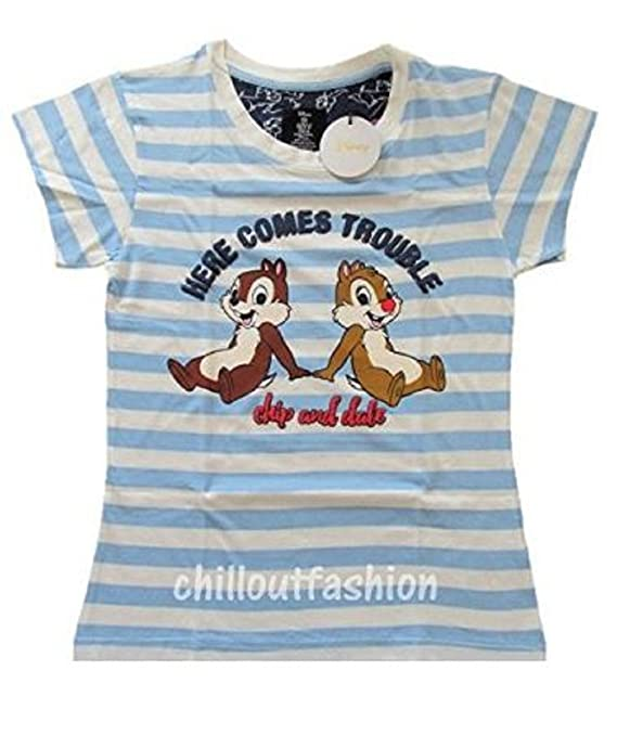 Primark Ladies Girls Womens Disney CHIP & Dale Pajamas Pyjamas T Shirt PJ Set UK S-XL (UK S 6-8) at Amazon Womens Clothing store: