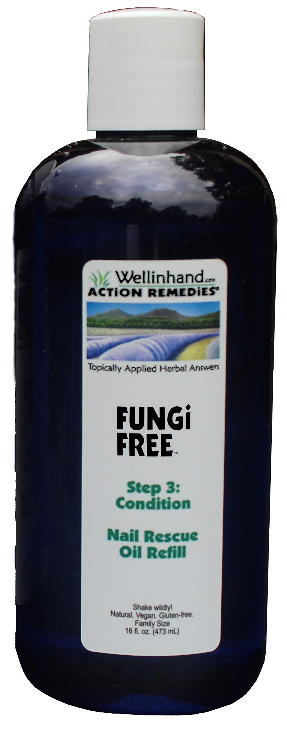 Wellinhand's FungiFree Nail Rescue Step 3 Conditioning Oil PROTECT - 16 oz by Well-In-Hand
