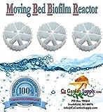 K2.5 XL Cz2.5 Filter Media PREMIUM GRADE Moving Bed Biofilm Reactor (MBBR) Fresh, Virgin, NOT Recycled. Creates Most Robust Good for Aquaponics • Aquaculture • Ponds • Aquariums (1 Gallon)