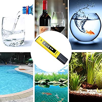 Digital PH Meter, VANTAKOOL 0.01 PH High Accuracy Pocket Size PH Meter / PH Tester with 0-14.0 Measuring Range for Household Drinking Water, Hydroponics, Aquariums, Swimming Pools