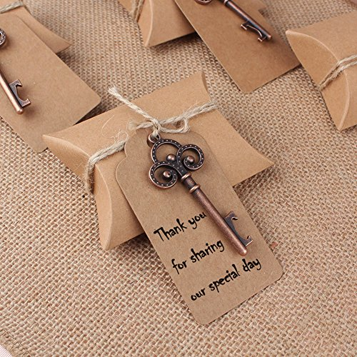 Cheap AerWo 10pcs Skeleton Bottle Opener Wedding Souvenirs + 10pcs Escort Tag Card + 10pcs Wedding Favor Box, Wedding Favors for Guests Party Supplies, Style 1