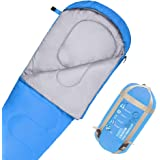 JBM Mummy Sleeping Bag 4 Season 30℉(0℃)/60°F(30°C Twin Single Water Resistant and Repellent Insulated Sleep Bag All Seasons for Camping Hiking Traveling Packaging Including Compression Sack