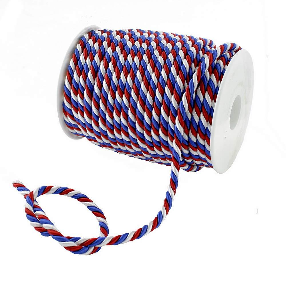 2mm// 50 Meter TGG Colore: Blu//Bianco//Rosso ! Taglia L Corda in 3 Colori Rosso//Verde