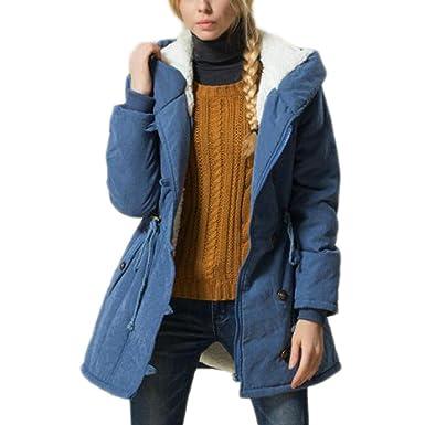 online store 86ca3 3c961 Bestfort Warm Mantel Damen Wolle Jacke Wintermantel mit ...