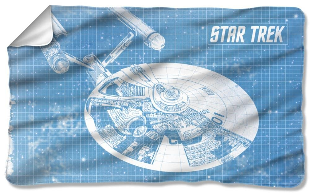 Star Trek - Enterprise Blueprint Fleece Blanket 57 x 35in