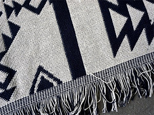 "Luxury Wall Decor 71"" Nordic Style Sofa Towel Beach Throw Multi-functional Cotton Knit Blanket Double Sided Stripe Quilted Throw Blanket(GT16) (51""W 71""H)"