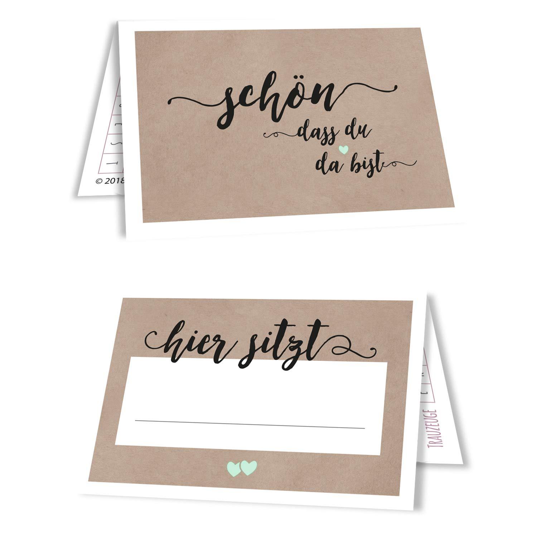 Amazon de 15 tischkarten sitzplatzkarten namenskärtchen hochzeit blush wedding mint